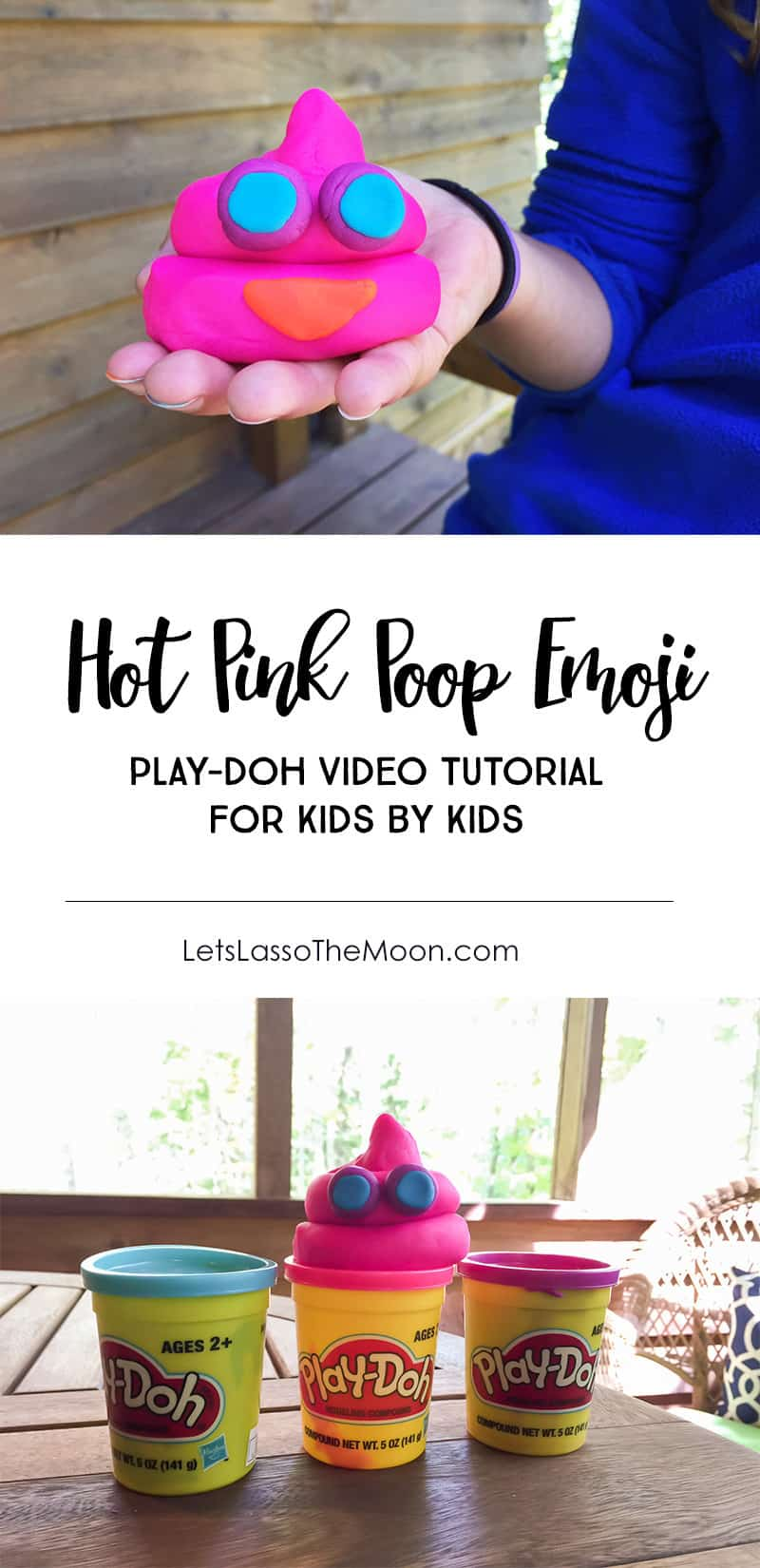 Learn how to make a play dough poop emoji with this video tutorial + find awesome tween emoji gift ideas