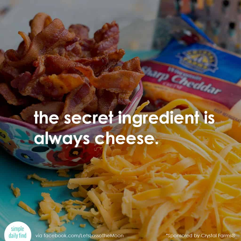 the secret ingredient is always cheese. #quote *Isn't that the truth?!?