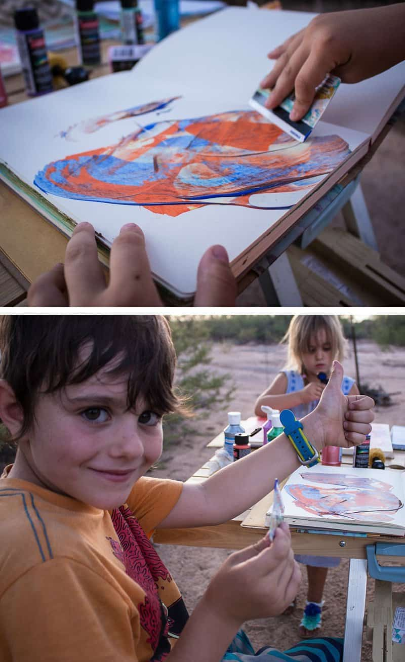 My secret weapon to the inherit chaos of mothering — starting an art journal with the kids. *Great post for parents