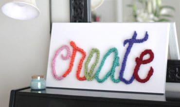 Finger Knit Word Art