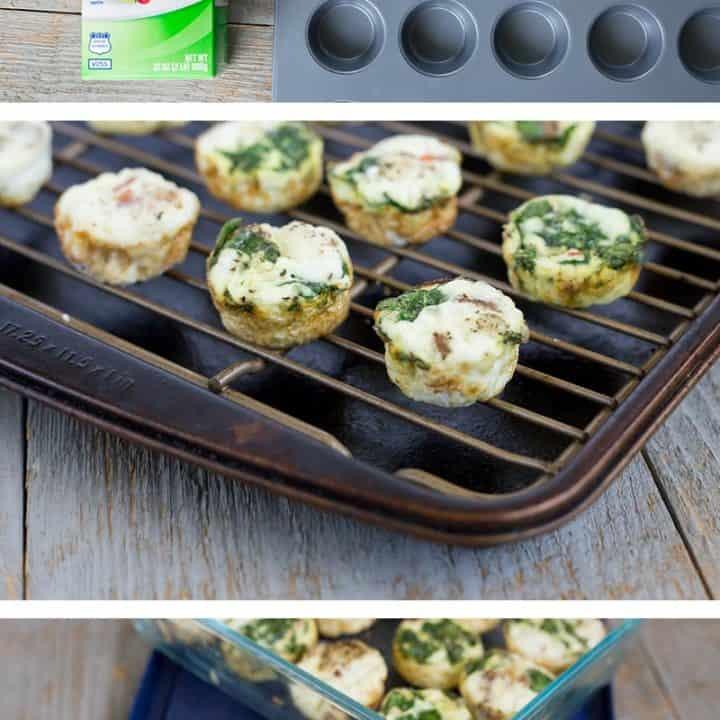 Sausage & Spinach Egg-White Muffin Bites