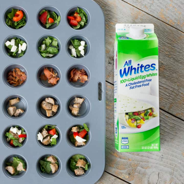 Red Pepper & Spinach Egg-White Muffins