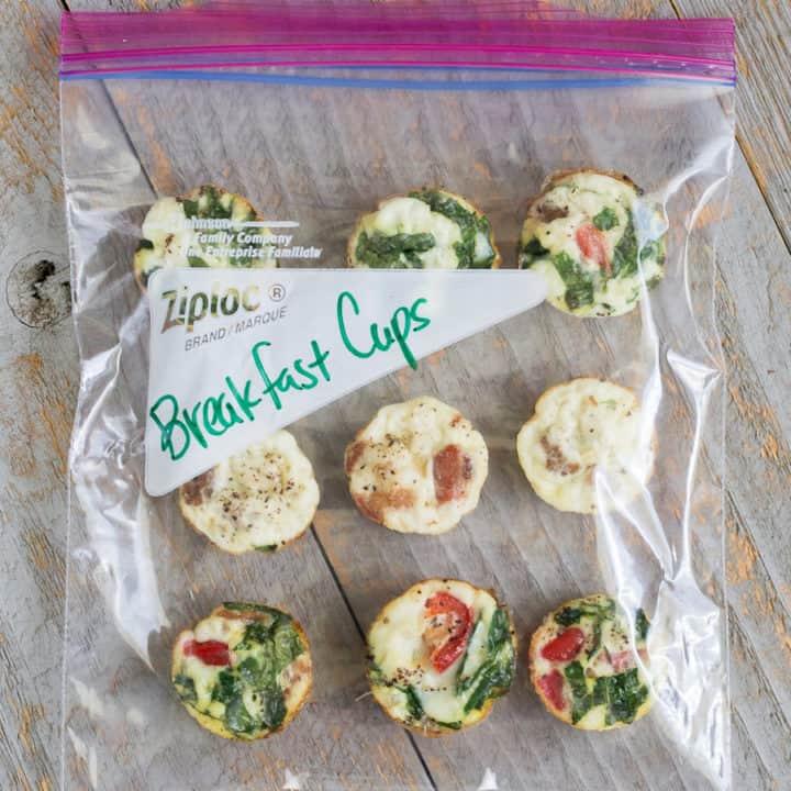 Baked Spinach & Feta Egg-White Muffin Bites