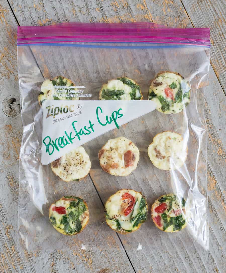 Here are 5 insanely easy breakfast recipes that will give you a morning boost. This healthy Baked Spinach & Feta Egg White Omelet Cups recipe is packed full of protein and is a quick on-the-go breakfast snack. You can make one batch to last a full week. *Crazy easy way to start your day with eggs