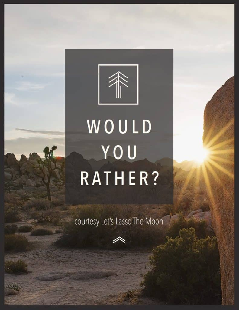 photo about Would You Rather Printable named Free of charge PRINTABLE: Would Your self Really? (For Every time Your Thoughts is