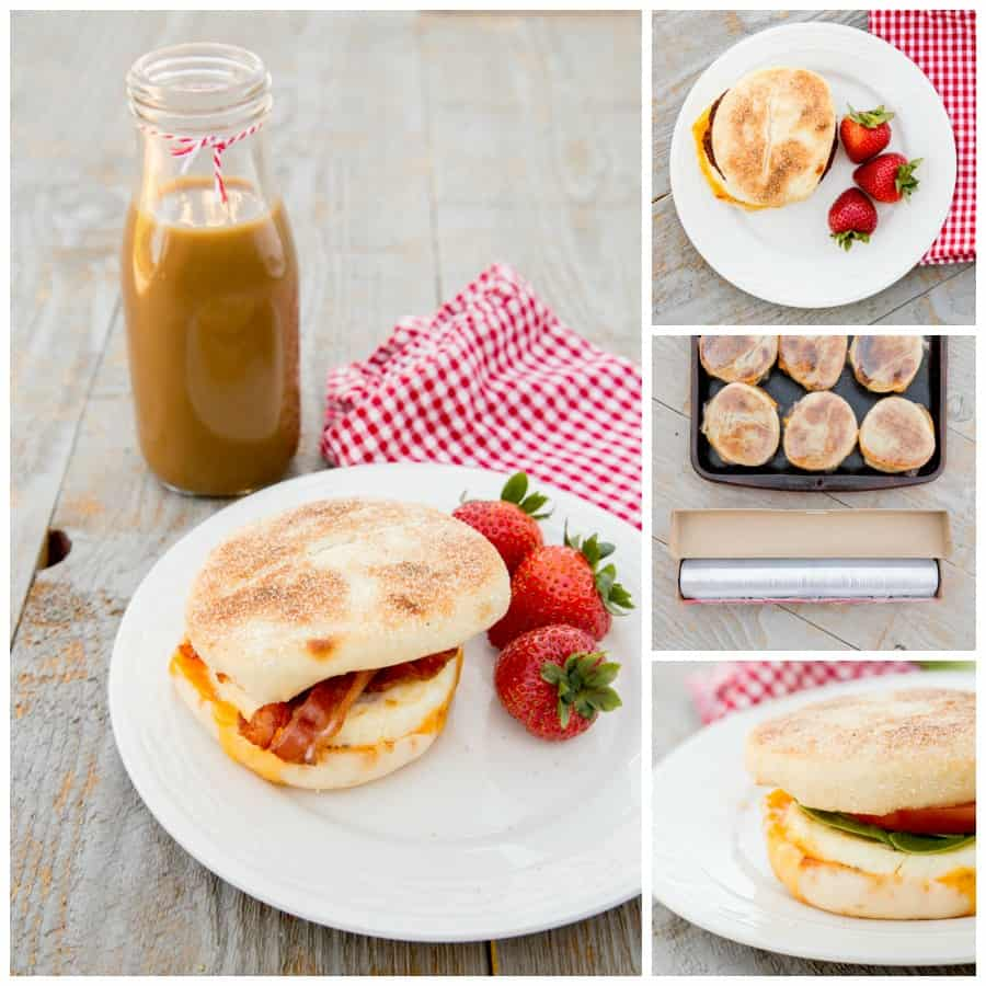 These 20-Second freezer-friendly breakfast sandwiches are the perfect on-the-go, high-protein kickstart. You can use different toppings for everyone in your family- sausage, bacon, spinach, cheese. There are no rules. *Keep these on hand and you'll never skip breakfast again.