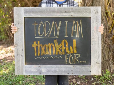 Today I am thankful for... Words of Gratitude Project *This interactive family project is perfect for older kids and Thanksgiving