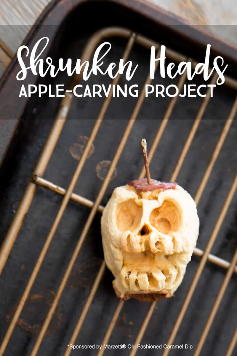 How to Carve Apples and Make Awesome Shrunken Heads - Photo and Stop Motion Video Tutorial *These turned out so cool. What an awesome art project. Such a cool DIY Halloween decoration for kids to work on.