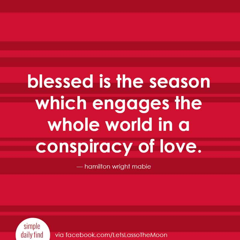 blessed is the season which engages the