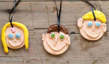 Clay Family Portrait Ornaments
