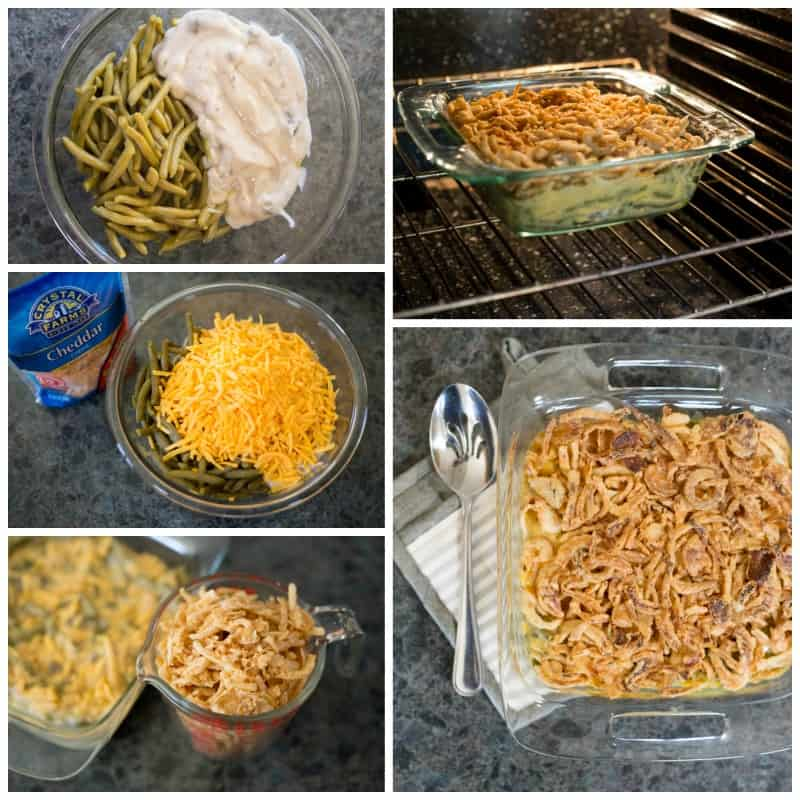Cheesy Green Bean Casserole + 7 Make-Ahead Holiday Side Dishes to Save You Time *Great list for Christmas planning