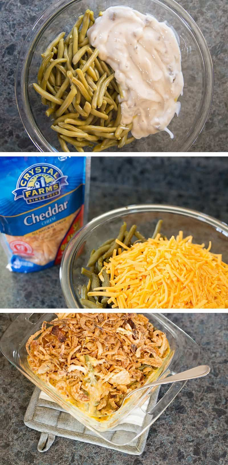 Cheesy Green Bean Casserole + 7 Make-Ahead Holiday Side Dishes to Save You Time *Great list for Thanksgiving and Christmas planning