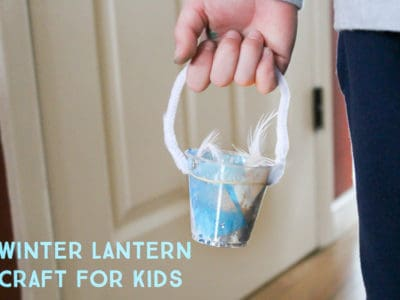 This easy winter lantern craft for kids is sure to light up their faces on a boring afternoon.