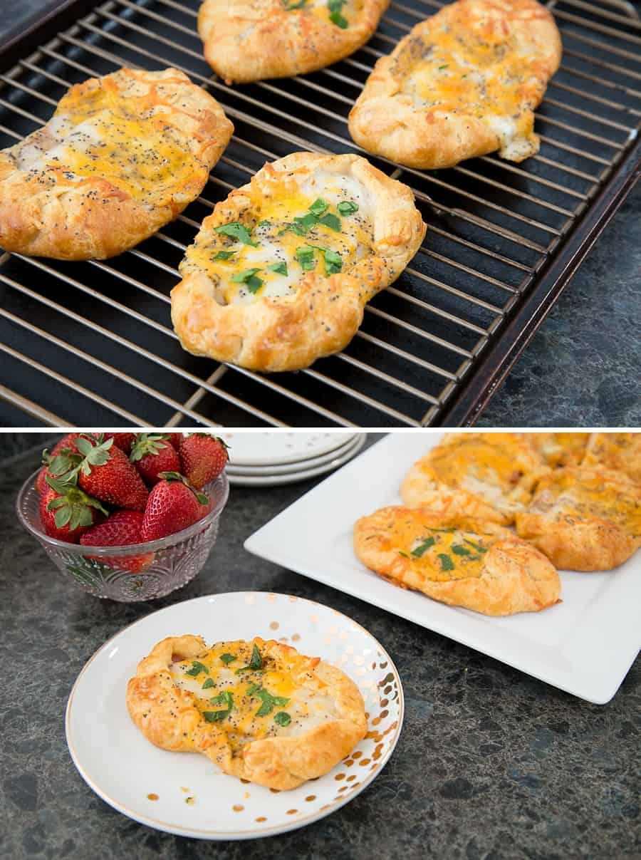 These Ham & Cheese Crescent Puffs are the perfect family-friendly brunch recipe. Wether you're looking for a delicious breakfast snack or something special for a holiday party, this simple recipe is perfect. *This sounds amazing. Love the mustard glaze recipe too. Bookmarking this for Easter brunch.