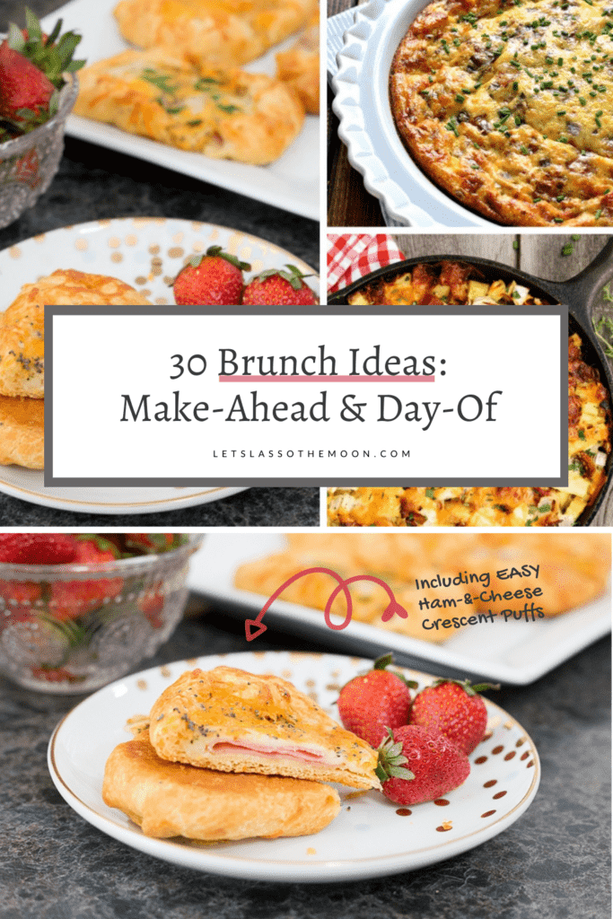 """A collection of brunch recipes with the headline overtop, """"Over Thirty Tasty Brunch Recipes"""""""