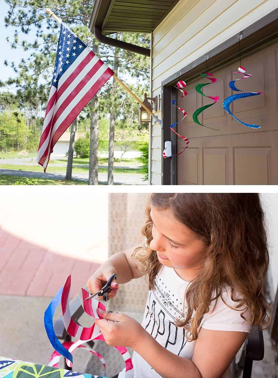 75 Screen-Free Activities Patriotic Wind Spinners *Loving this list of family-friendly ideas. A great parent resource for summer.