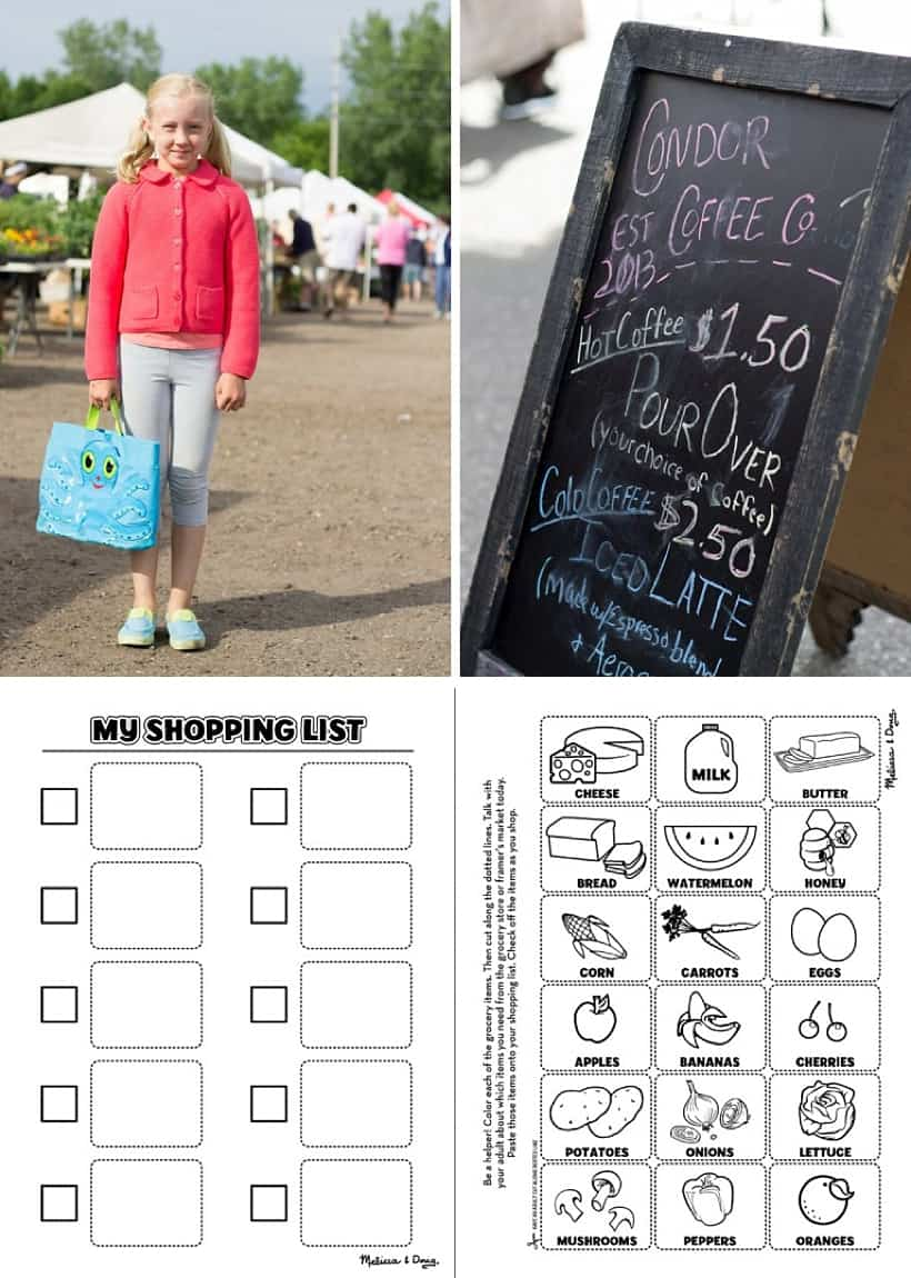 75 Screen-Free Activities: Take your child to the farmer's market with this free printable. *Loving this list of family-friendly ideas. A great parent resource for summer.