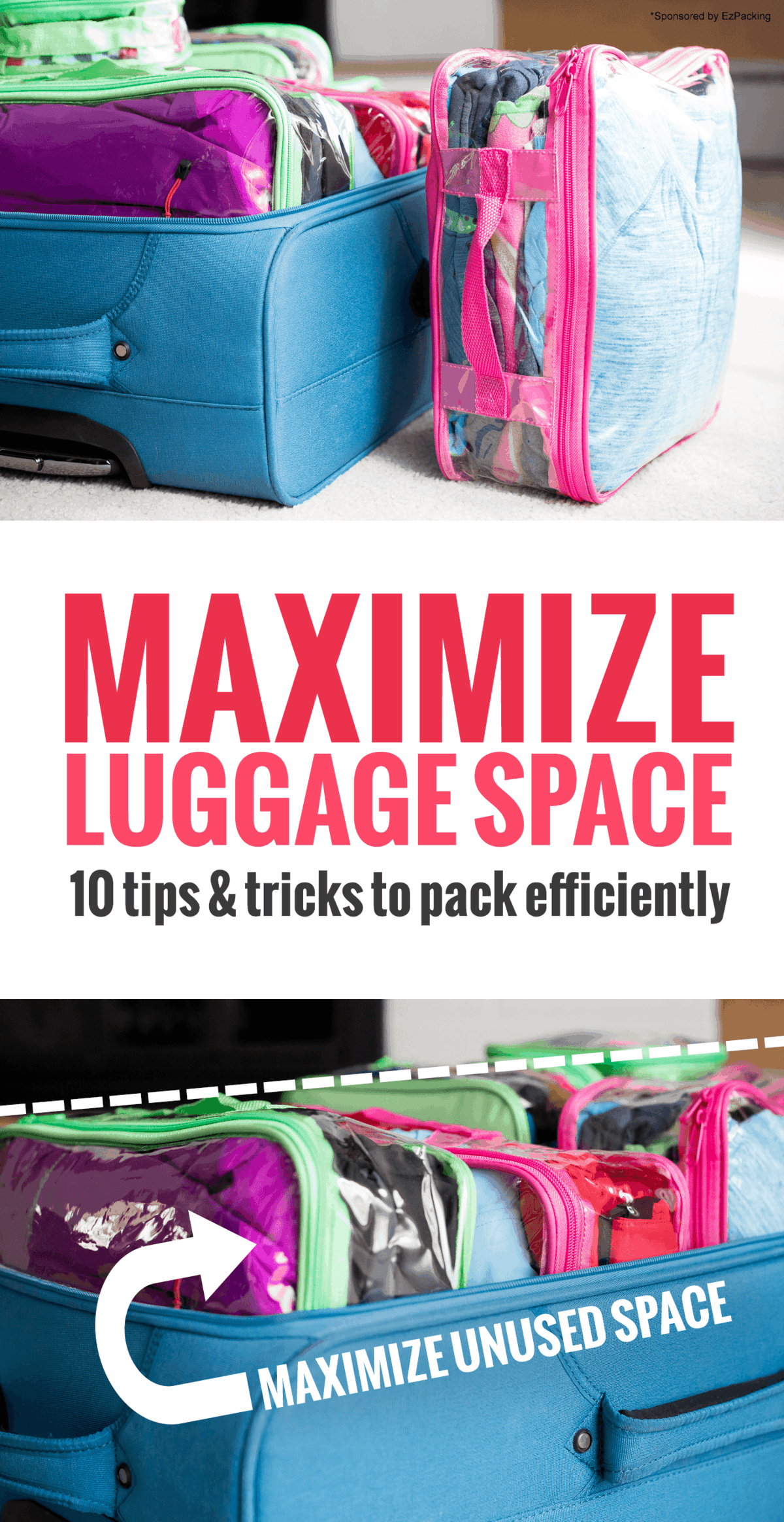 how to pack a suitcase to maximize space