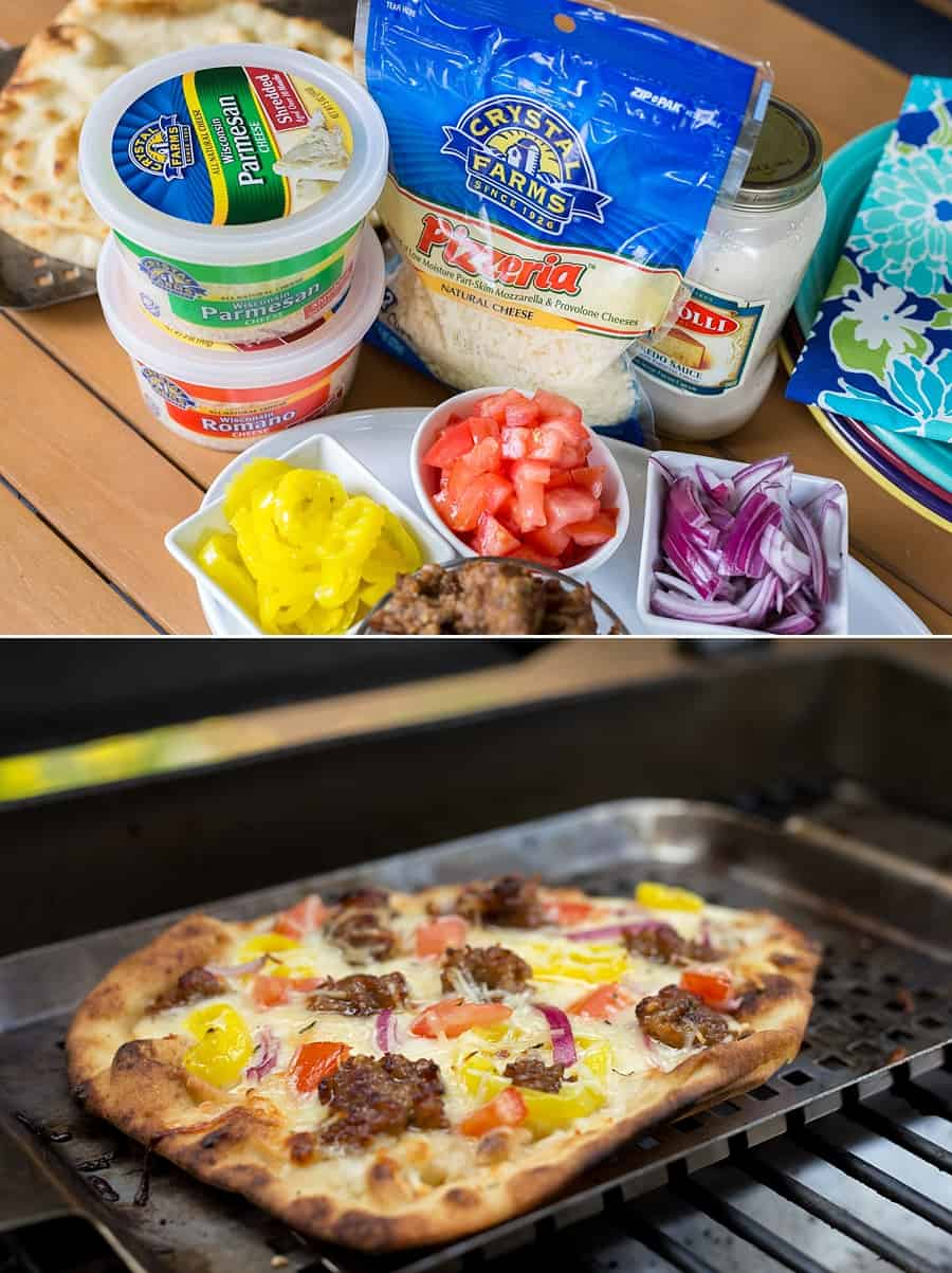Grilled Pizza 101: This Simple Grilled Pizza Hack is Insanely Delicious *Love this easy idea. My husband loves this banana pepper, tomato, Italian sausage and red onion combo.