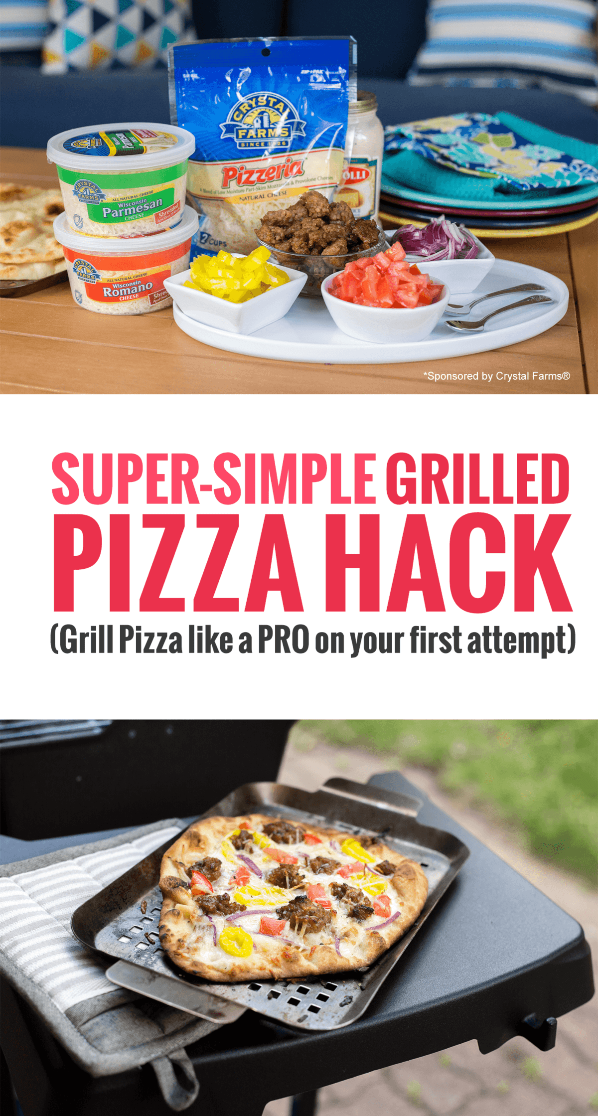 Grilled Pizza 101: This Simple Grilled Pizza Hack is Insanely Delicious *Love this easy idea and recipe. My husband and kid love these topping combos.