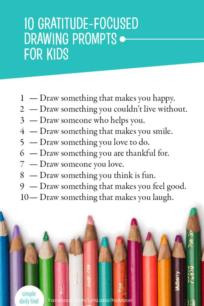 A list of 10 Gratitude Prompts For Kids