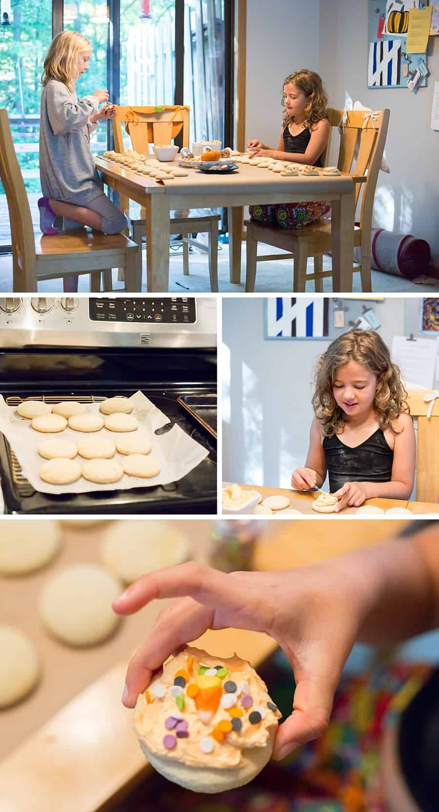 How to Cake Cookies for Halloween *This recipe tastes exactly like the grocery store birthday cake cookies. CRAZY. My kids love these. So good. What a fun fall family tradition!