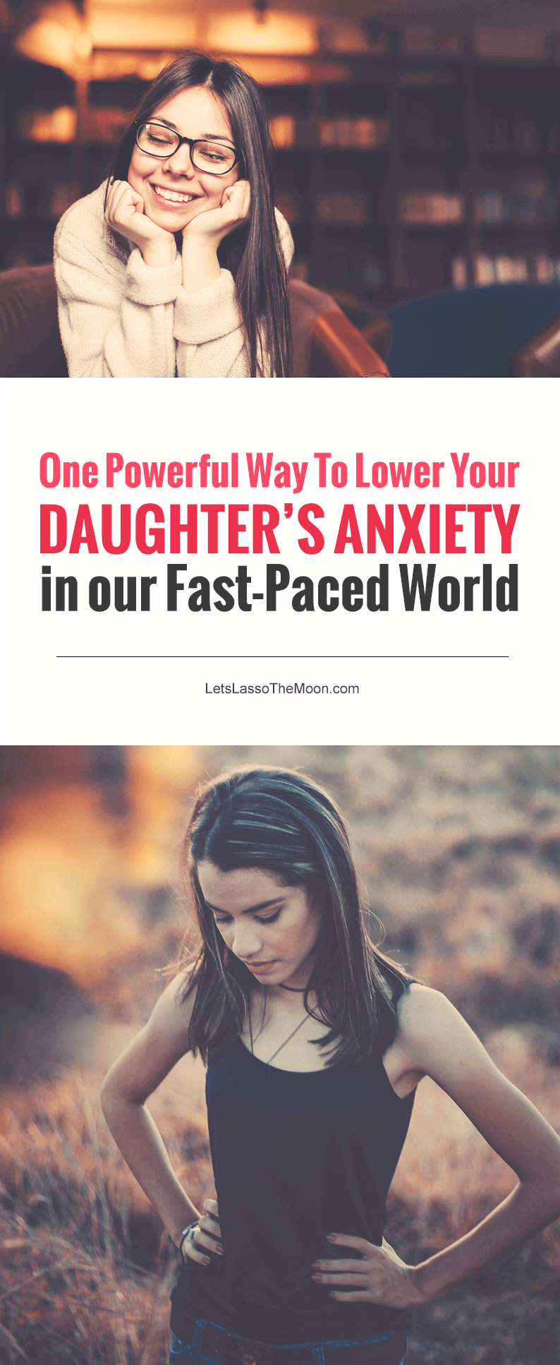 One Powerful Way to Lower your Daughter's Anxiety in our Fast Paced World - When pressure, expectations, and stress make your daughter's world start spinning a little too fast, this is one powerful way to guide her back toward inner calm, peace, and stillness. Below are three ways mindfulness for teens is pivotal during these transition years. #parenting #minfulness #teens *Love this post!