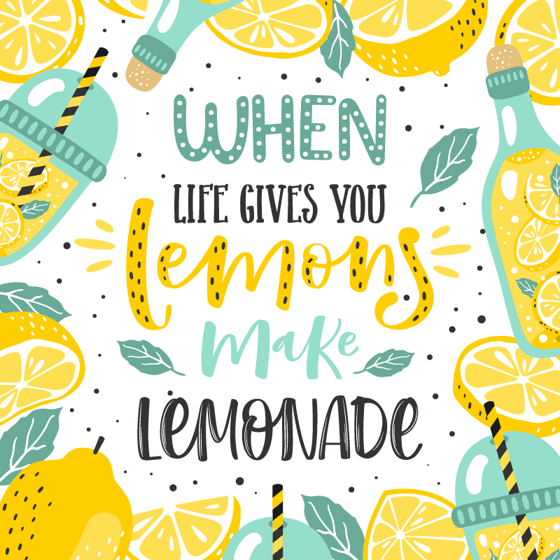 When life gives you lemons, make lemonade. #quote #lemonaderecipe *Love this homemade lemonade recipe for summer!