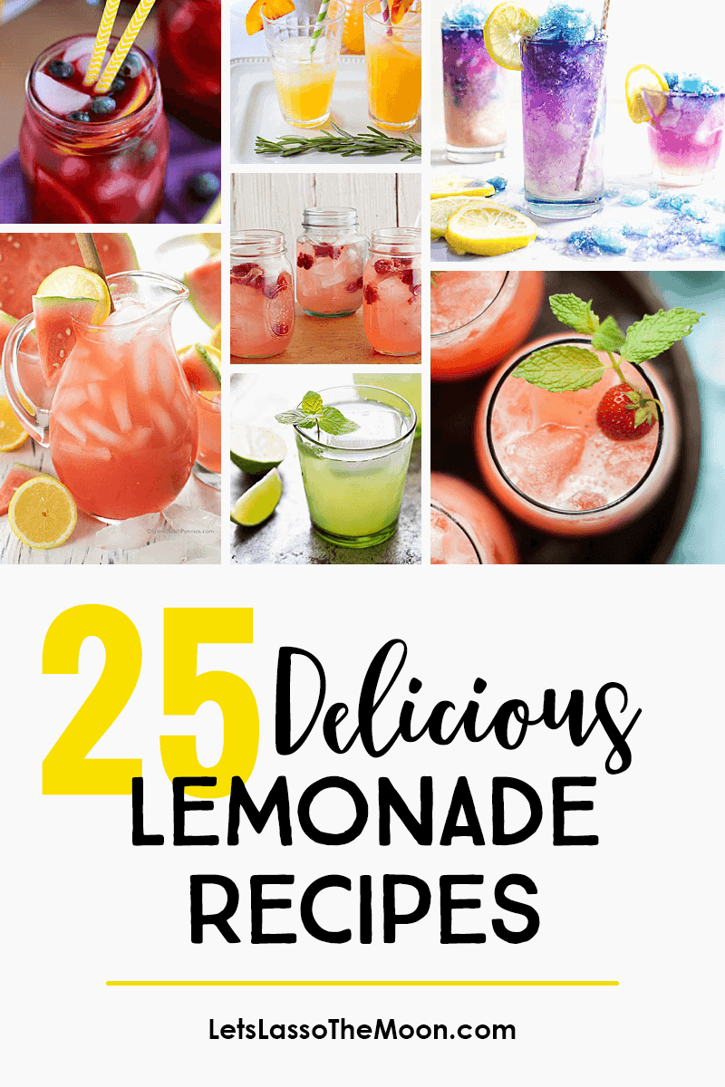 25 Delightfully Delicious Lemonade Recipe Twists #lemonade #homemadelemonade #drinkrecipe *Love this collection of summer drinks