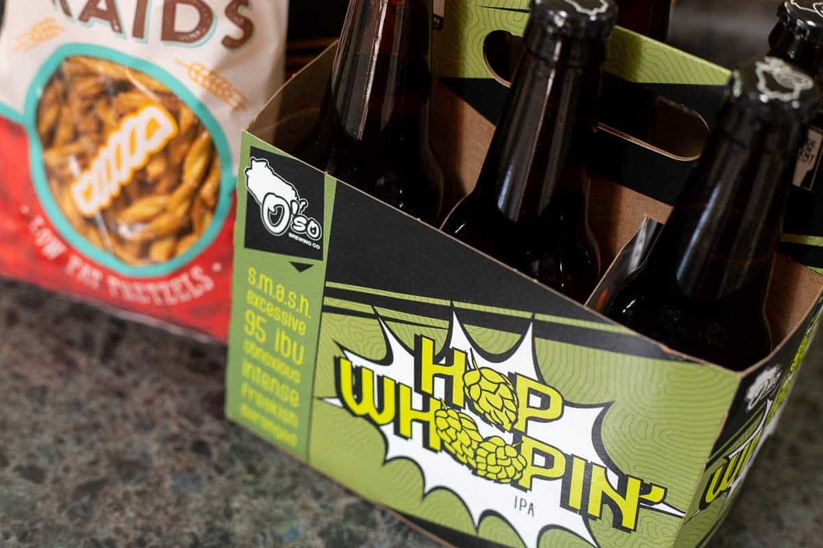 We are BIG fans of the SMALL O'so Craft Brewery. Their Hoppin' Whoppin IPA is stellar and O'so American Wheat Ale (The Big O) paired with an orange wedge is another local favorite. Couple these two personal favorites with O'so Night Rain Stout and you've got an awesome trio of flavor for your craft beer sampler.