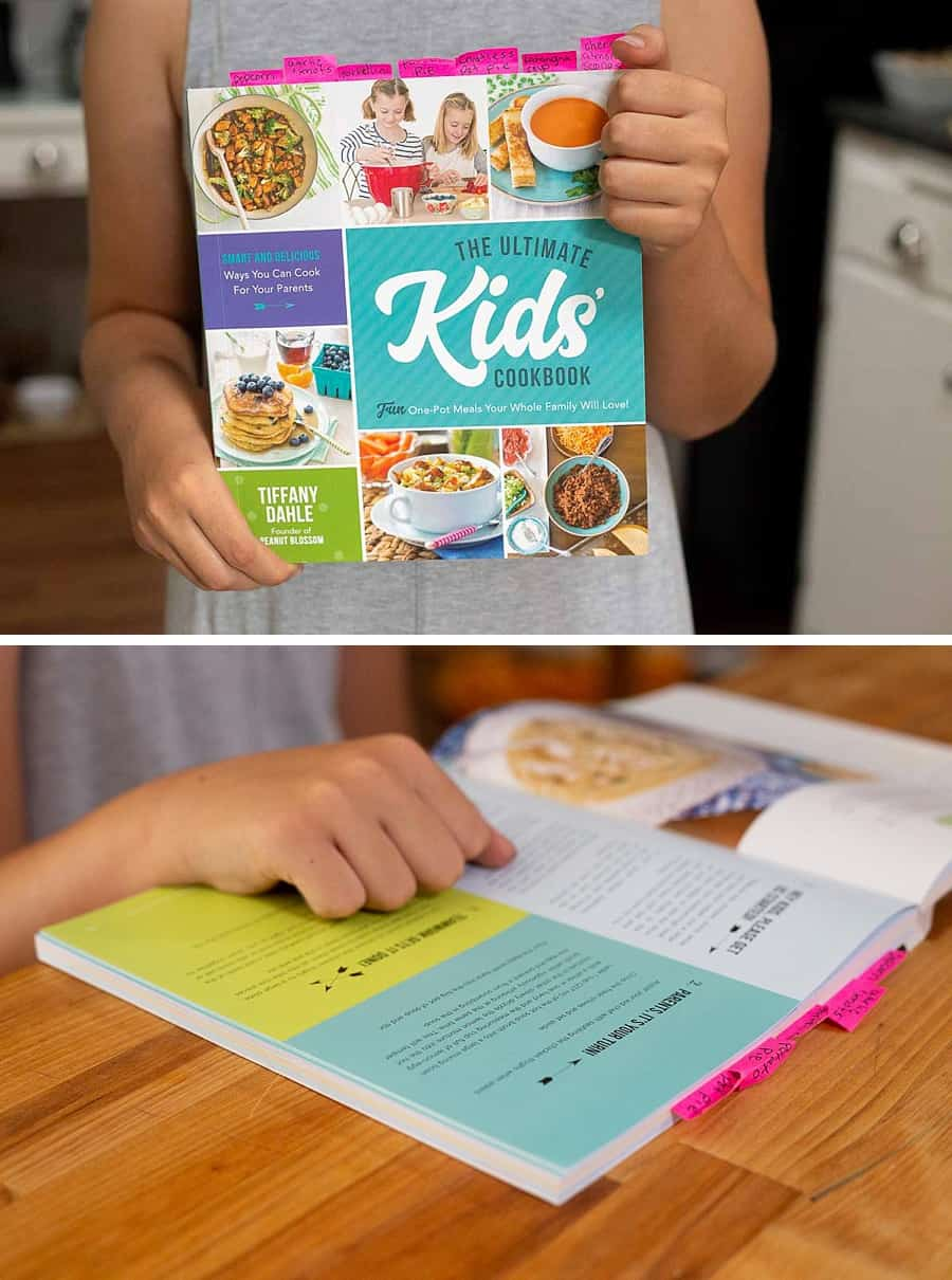 7 Fool-Proof Ways to Make Dinnertime the Best Part of Your Day - Put the kids in control of the menu. I find that kids are more inspired when they can see BIG colorful photos of their dinnertime options. It's why I insisted that there be a clear photo of every single recipe in my book The Ultimate Kids' Cookbook. Your child can mix and match a dinner and a side dish from 75 fresh and delicious recipes. #cookbook #dinnertime #familydinner #recipes #kidsrecipes *Loving this entire list of suggestions!