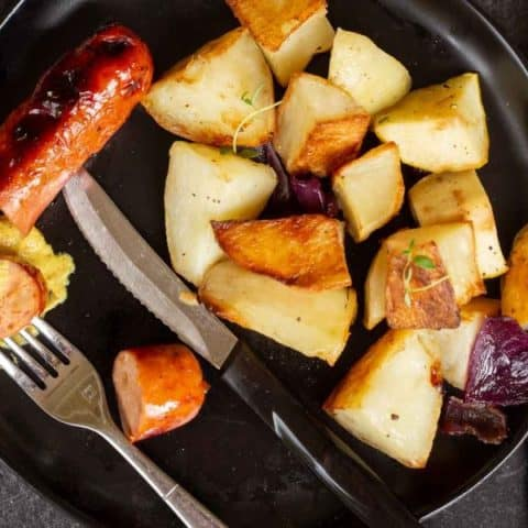 Chicken Sausage-&-Potato Bake With Apples