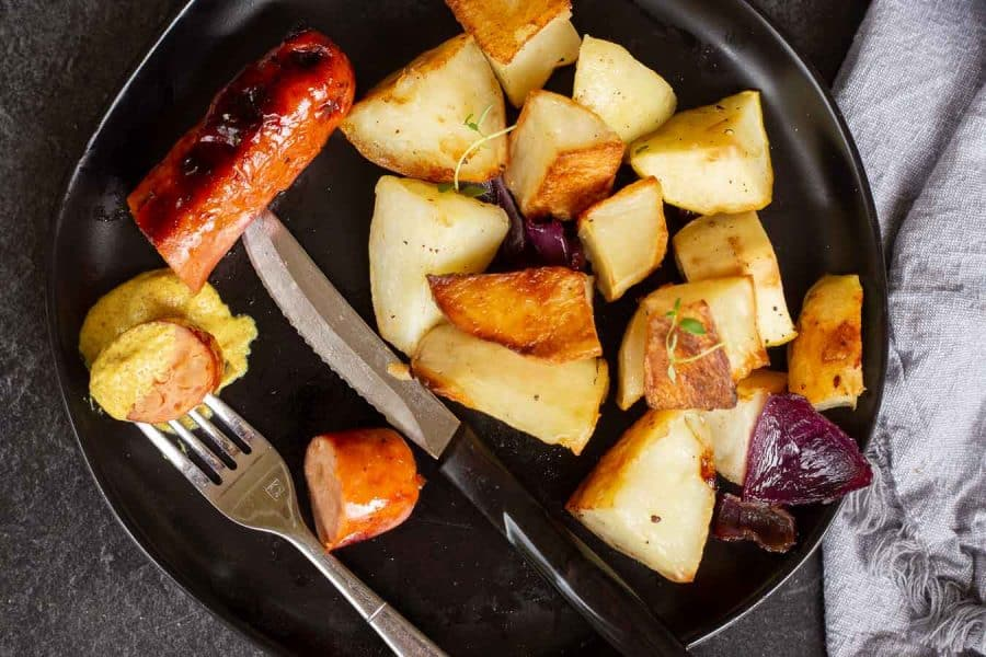 Sausage And Potatoes Bake recipe