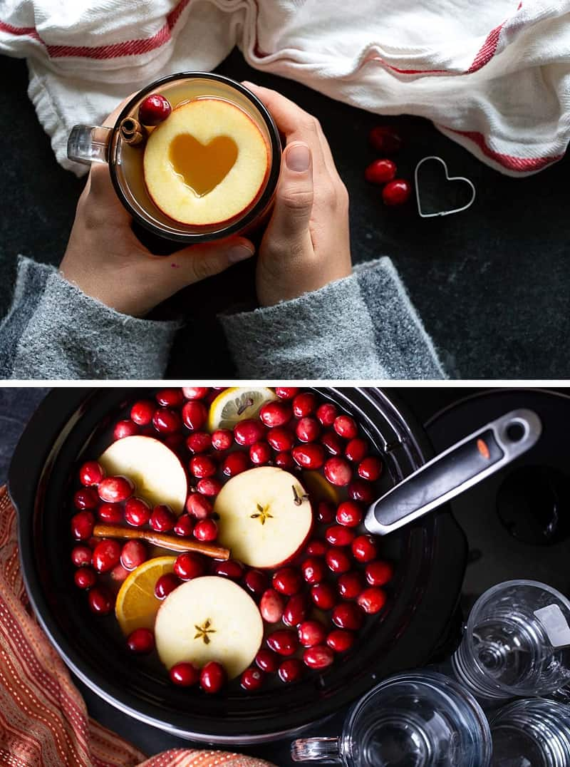 Using a slow cooker for this classic cold-weather mulled cider recipe allows you to prep, pre-make, and then be fully present with your family and friends. The slow cooker keeps the hot apple cider warm (and mulling) in the background while you get to sit back and enjoy some downtime with the people you love. #mulledcider #applecider #fallrecipes #thanksgivingrecipes #christmasdrinks #drinkrecipe *My family LOVES this cider