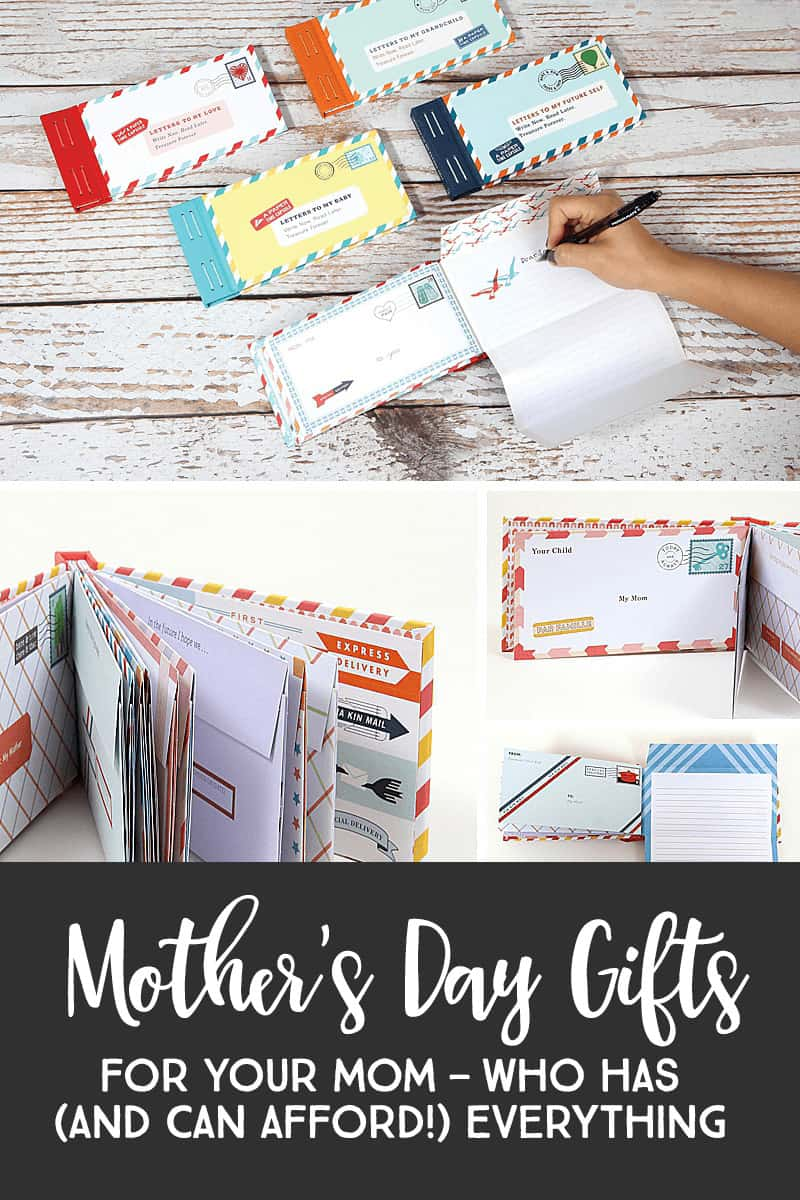 Gifts For Mom — With this keepsake collection of twelve letters, you can fill each with words of wisdom that only a grandparent can impart then postdate, seal with the included stickers, and gift this paper time capsule for future opening. Her grandchild – and generations to come – will treasure this heirloom forever. #mothersday #giftsformom *Loving this entire list of Mother's Day gift ideas