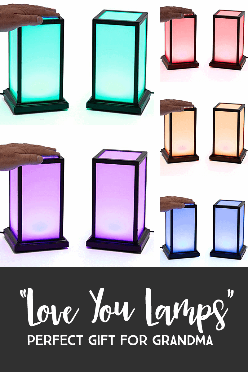 Gifts For Mom — Love Lamps are the perfect gift for long-distance grandparents. This interactive Mother's Day gift allow Grandma to connect with those she loves, no matter how far away they live. She simply touches her love lamp and their lamp lights, the same color as hers! #mothersday #giftsformom *Loving this entire list of Mother's Day gift ideas