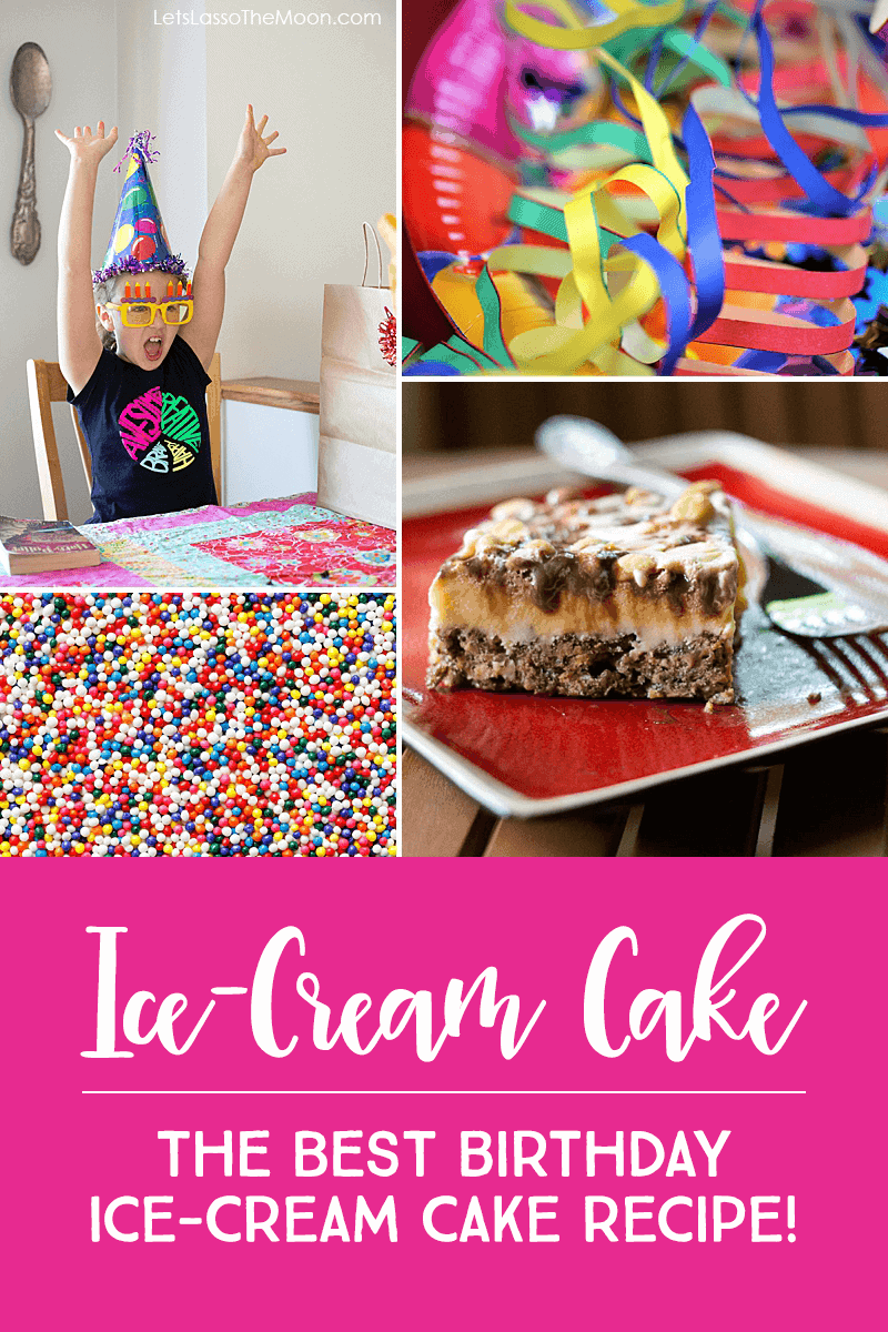 Drumstick Cake — THE BEST Homemade Ice-Cream Cake Recipe Ever! #recipe #dessert #icecreamcake *My family absolutely loves this dessert recipe. It is one of our favorite birthday ice-cream cake recipes EVER.