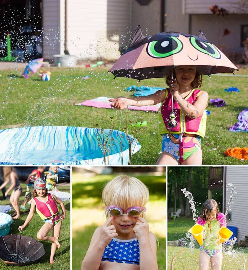 Summer Sprinkler Party - Put out the sprinkler, the kiddy pool, and then round-up the kids into the yard. The more kids, the merrier! #summerfun #takebacksummer #pizzaparty #kidsactivities *Love this collection of everyday summer activities for kids and parties! So fun.