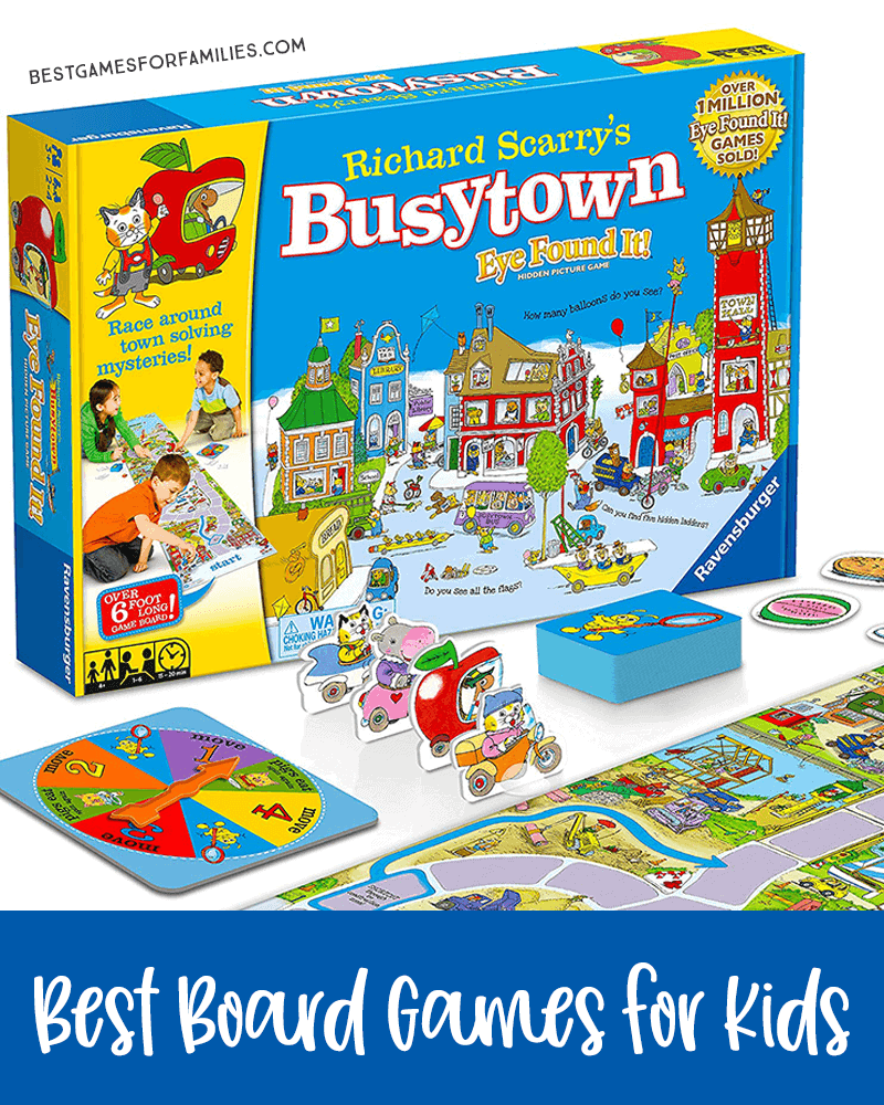 The BEST Parent-Tested Board Games for Kids of Every Age - If you hate Candy Land, switch to Busytown. This collaborative game is utterly entertaining. *Loving this list of ideas for family game night!