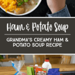 This creamy ham and potato soup recipe is a family favorite passed down from Grandma. This potato soup recipe is perfect for a chilly day; it is literally comfort food in a bowl. *My kids love this recipe!