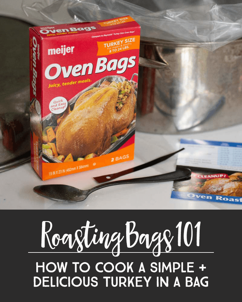 Oven bags ensure your roasted poultry or turkey remain moist and tender without any effort. As the meat cooks, roasting bags trap moisture making the oven bag an automated, no-effort, approach to basting. Easy-peasy! *This Champagne Turkey recipe in a bag sounds AMAZING.