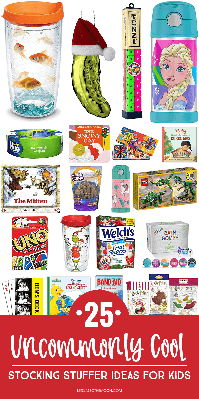 Stocking stuffers for kids sharable pin for pinterest