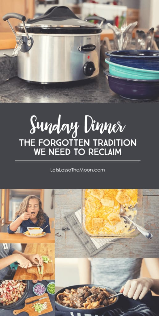 It's time to bring back the tradition of gathering around the dinner table. Find five tips for how to bring back Sunday dinners!