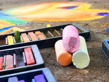 Sidewalk chalk art supplies